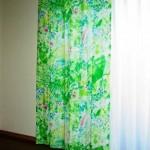 マリメッコのケサント生地のカーテンをオーダーメイドで取り付け 大阪府