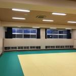 体育館の暑さ対策にコントラクトカーテン取付け 大阪府八尾市