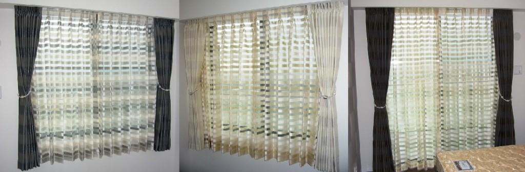 3部屋のカーテン