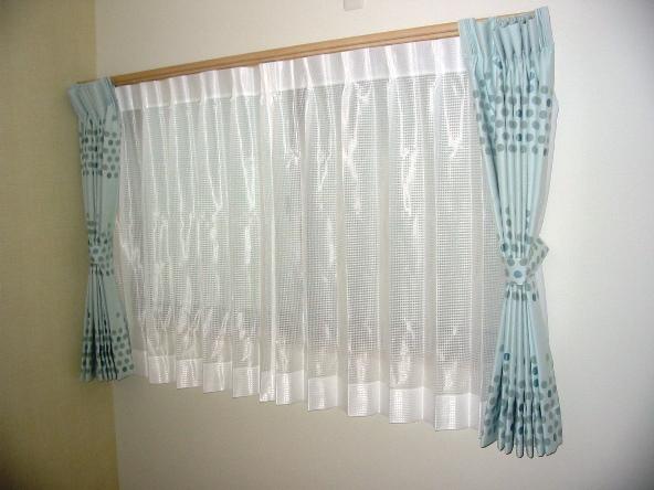 洋室 ミラーレースカーテン
