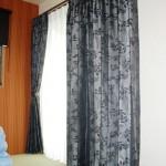 オシャレな寝室に合うオーダーカーテンをコーディネート 三重県の新築戸建て