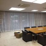 会社の貴賓室に高級オーダーカーテンをコーディネート 八尾市