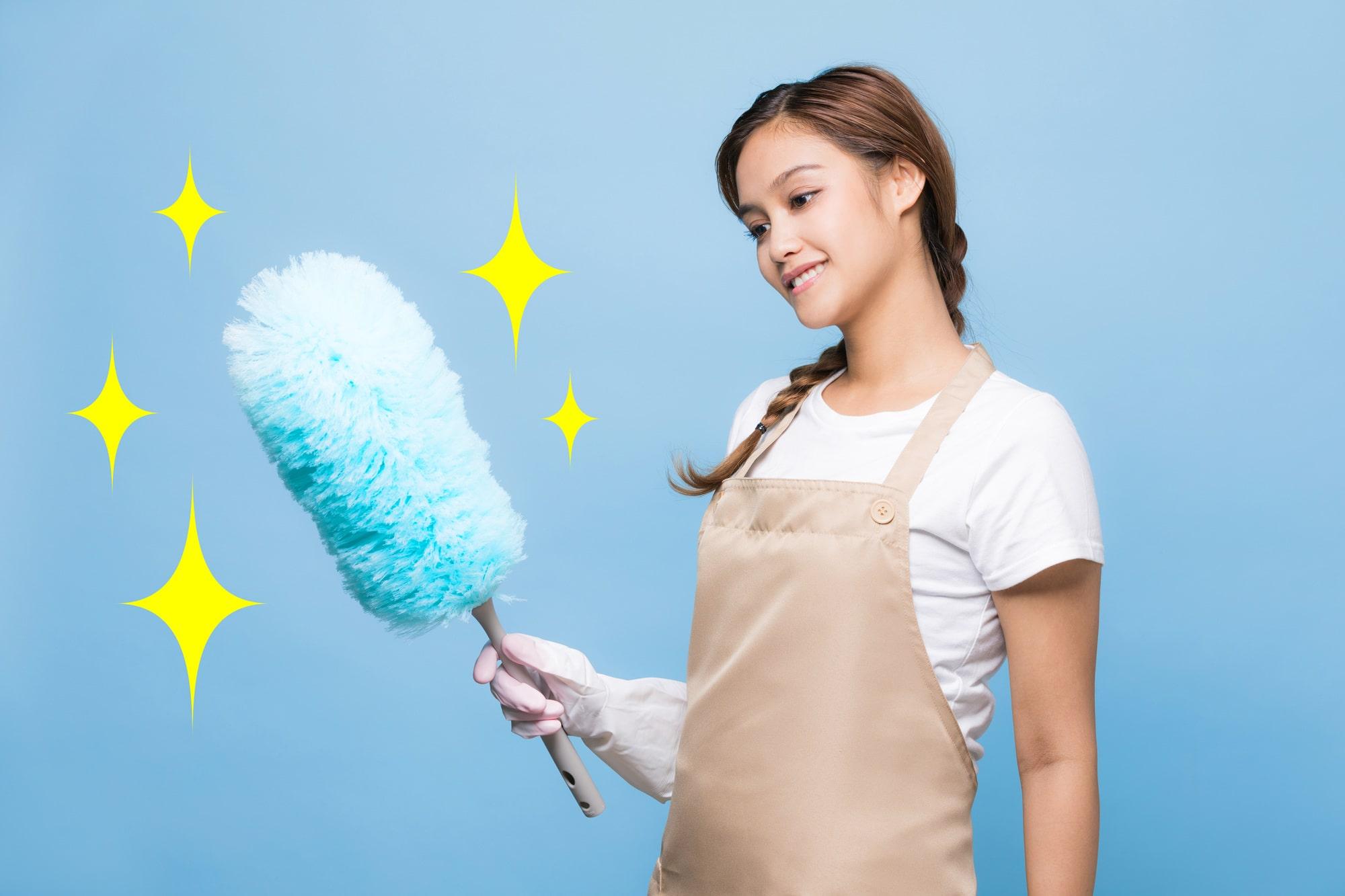 ホコリ掃除のイメージ