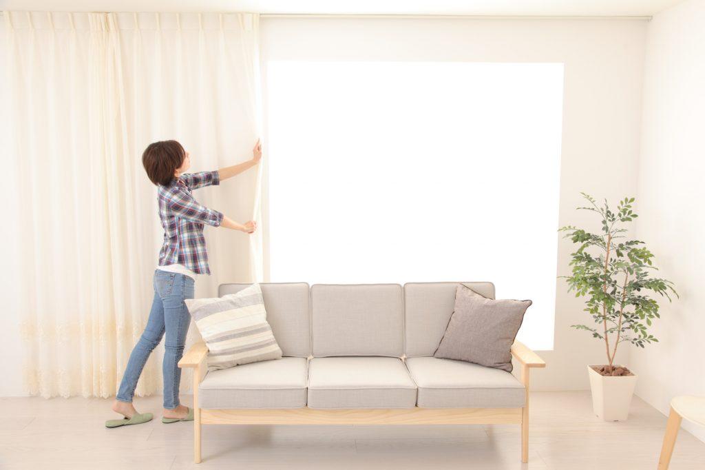 一人暮らしのカーテン