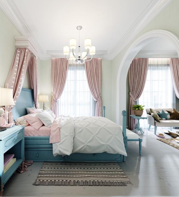 ベッドルーム 寝室のカーテン