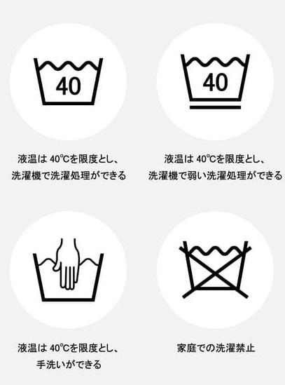 洗濯表示の例