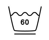 60度限度、弱い洗濯