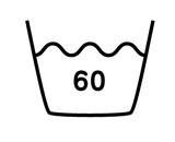 60度限度、普通洗濯