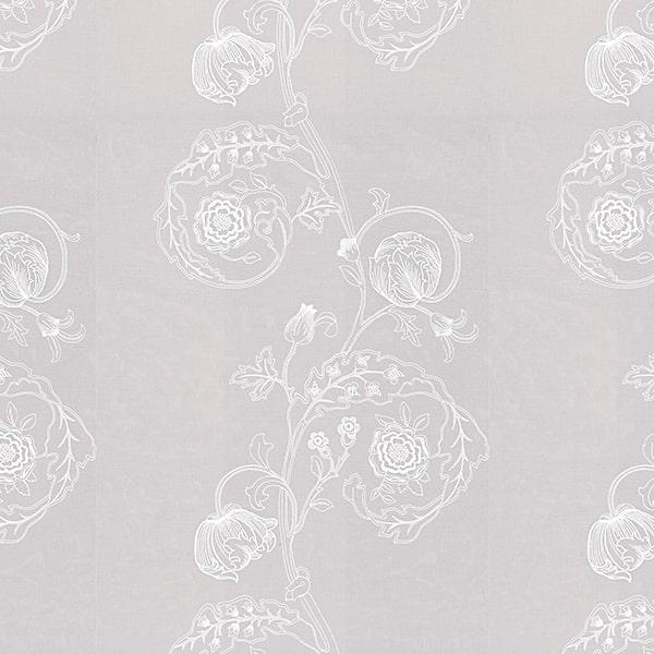 川島織物セルコン レースカーテン2 刺繍アップ